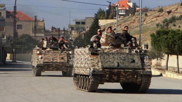 El Líbano lanza lluvia de misiles contra Daesh cerca de Siria
