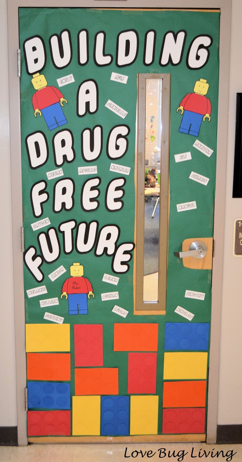 Love Bug Living Red Ribbon Week Lego Door Decorations