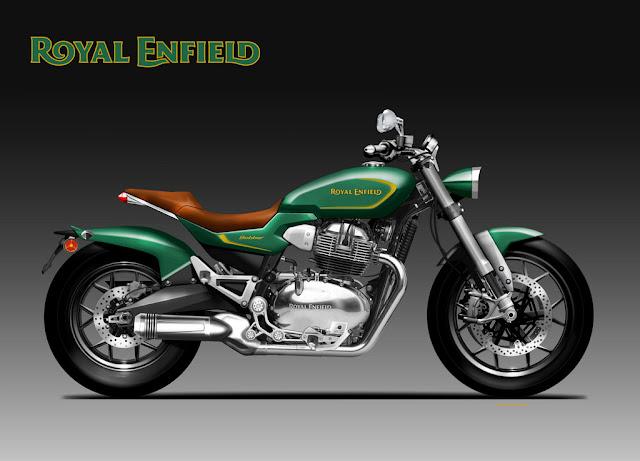 Royal Enfield Bobber Concept by Oberdan Bezzi