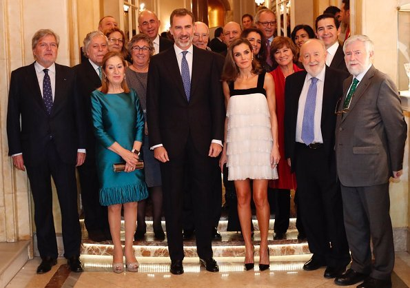 Journalist Florencio Domínguez. King Felipe and Queen Letizia at Ritz hotel