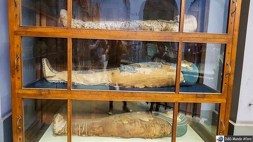 Múmias no Museu do Cairo, Egito