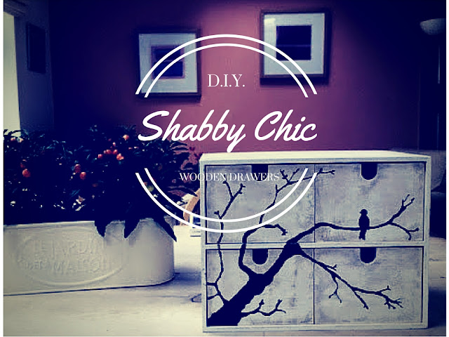 DIY Shabby chic wooden drawers