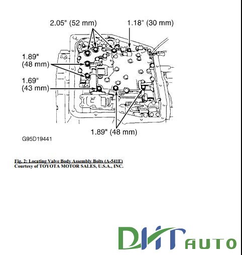 TOYOTA A-540E, A-540H & A-541E TRANSMISSION MANUAL FREE