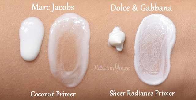 Marc Jacobs Beauty Undercover Perfecting Coconut Face Primer Swatch
