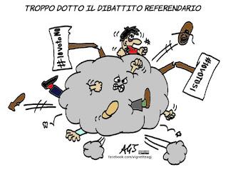 referendum costituzionale, ragioni del si, ragioni del no, cultura istituzionale, satira, vignetta