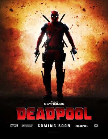 Poster Of Deadpool 2016 English 300MB HC-HDRip 480p Free Download Watch Online