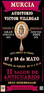 Flayer del II Salon de Anticuarios de Murcia