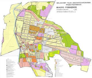 plan zagospodarowania przestrzennego - miasto Poddębice