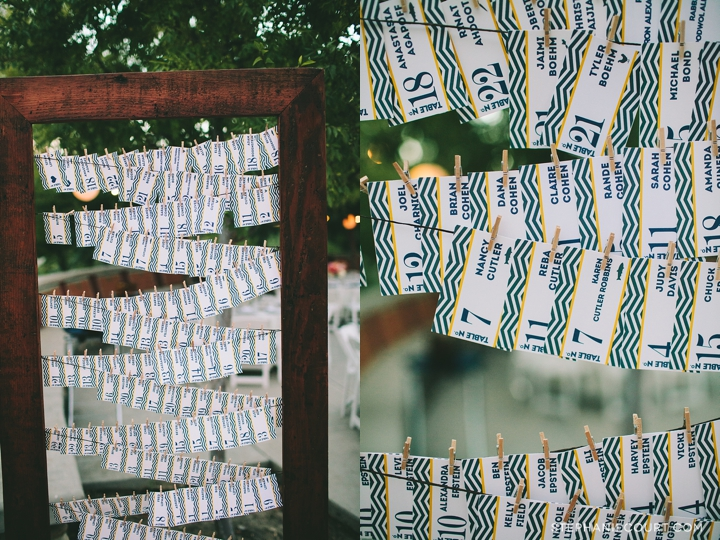 """navy chevron striped escort cards"""