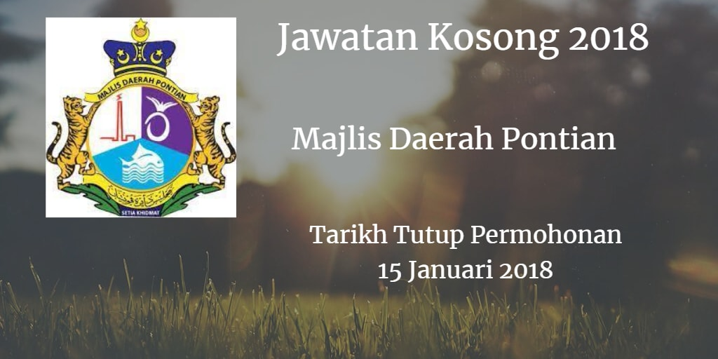 Jawatan Kosong MDPontian 15 Januari 2018