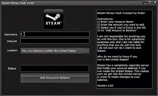 FREE STEAM WALLET MONEY HACK CODE AND TOOLS