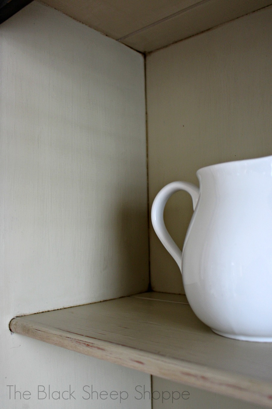 White pitcher against Country Grey interior