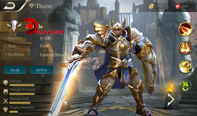 Arena of Valor : Hero Thane ( The Legendary Monarch ) Full Tanker Builds Set up Gear