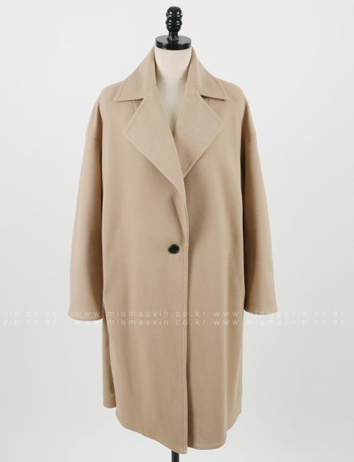 Wide Lapel One-Button Coat