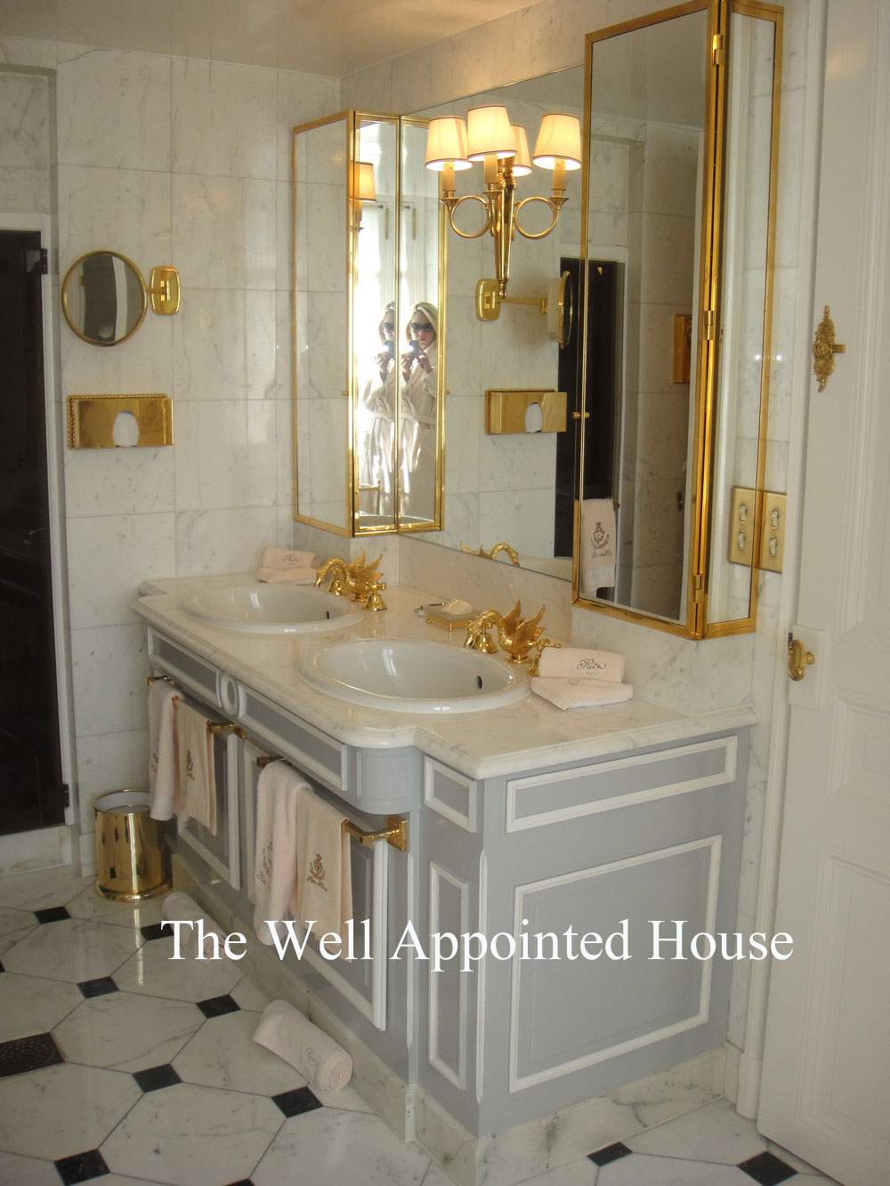 Things We Love: Ritz Paris Bathrooms | The Well Appointed House Blog:  Living The Well Appointed Life