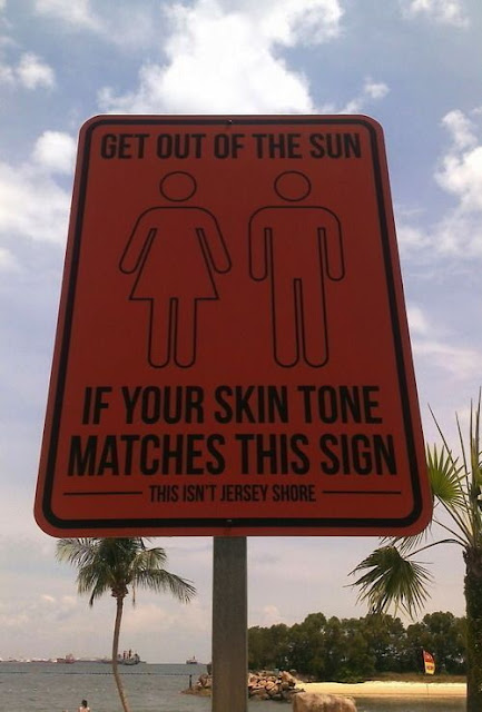Get out of the sun - Sign board that is downright hilarious