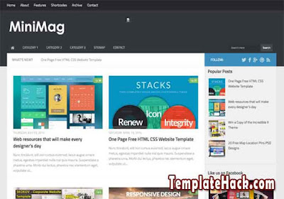 mini mag mega menu blogger template
