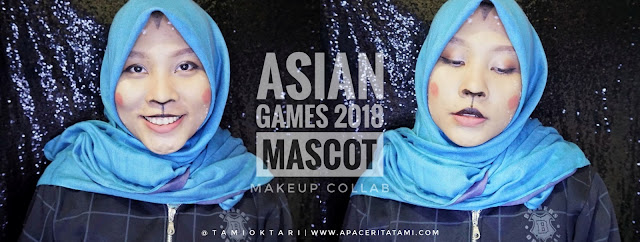 BEAUTIESQUAD COLLAB: ASIAN GAMES MASCOT 2018 MAKEUP LOOK