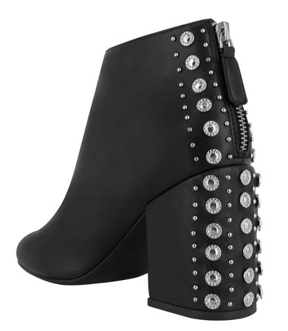 Stud block heel booties