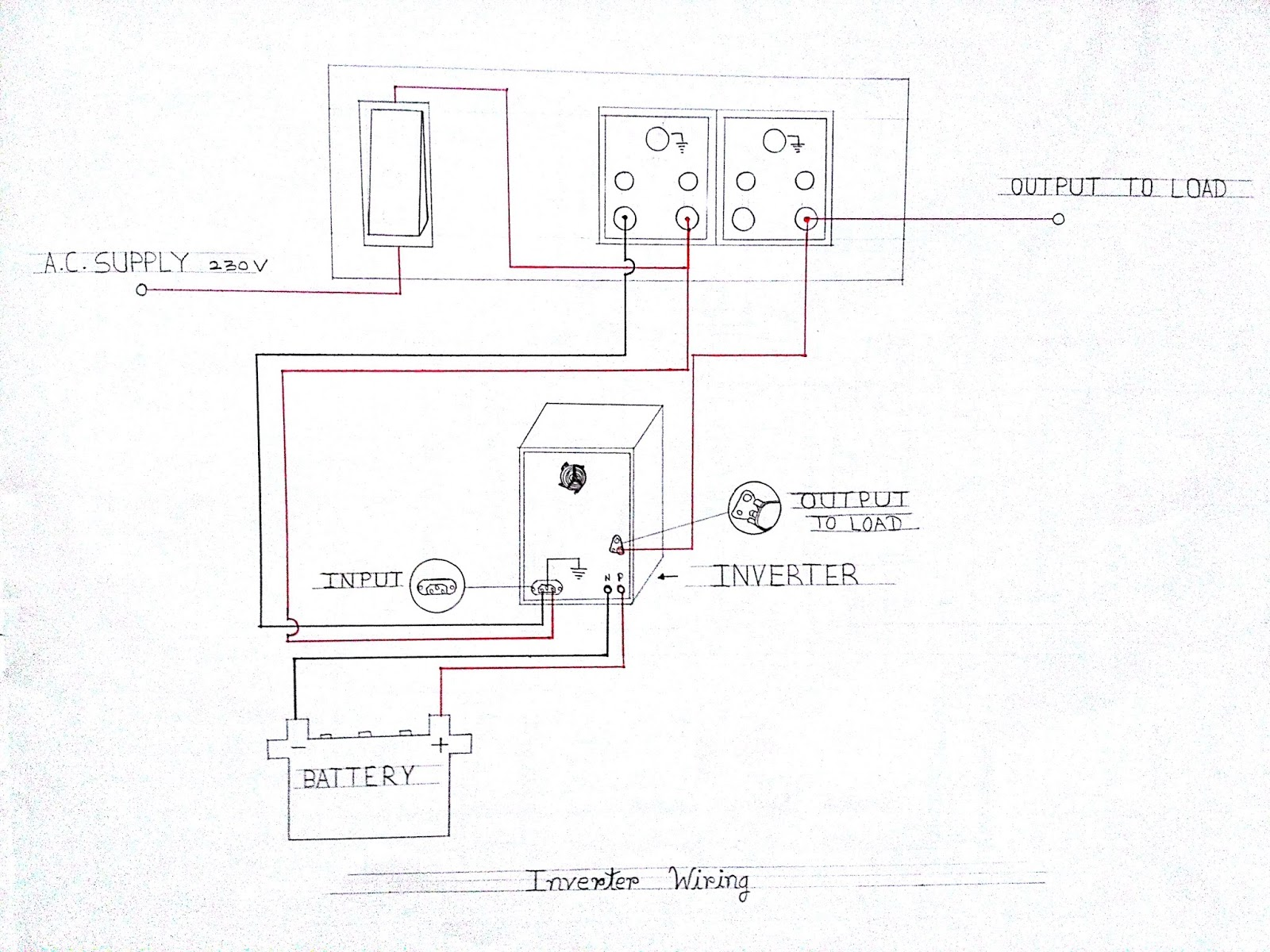 learn electrician  inverter wiring diagram