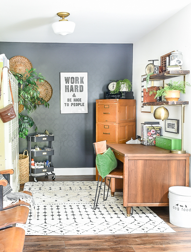 High contrast vintage modern office