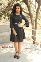 Telugu Actress Pavani Latest Pos in Black Short Dress at Smile Pictures Production No 1 Movie Opening  0009.JPG