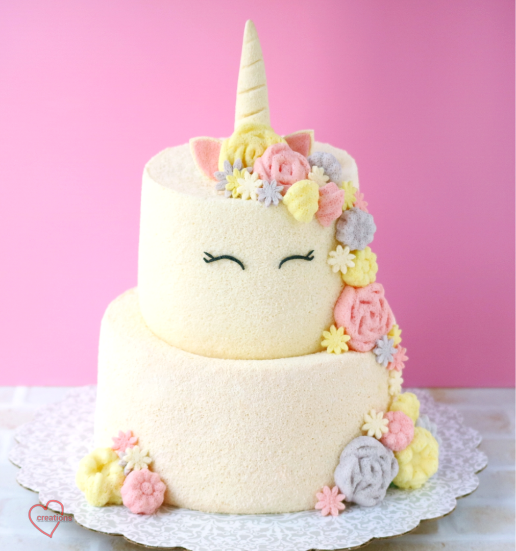 Loving Creations For You Unicorn Tier Chiffon Cake