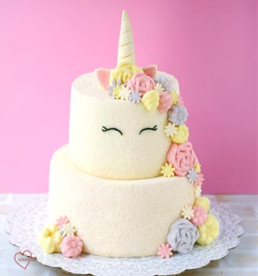 Loving Creations For You Unicorn Tier Chiffon Cake
