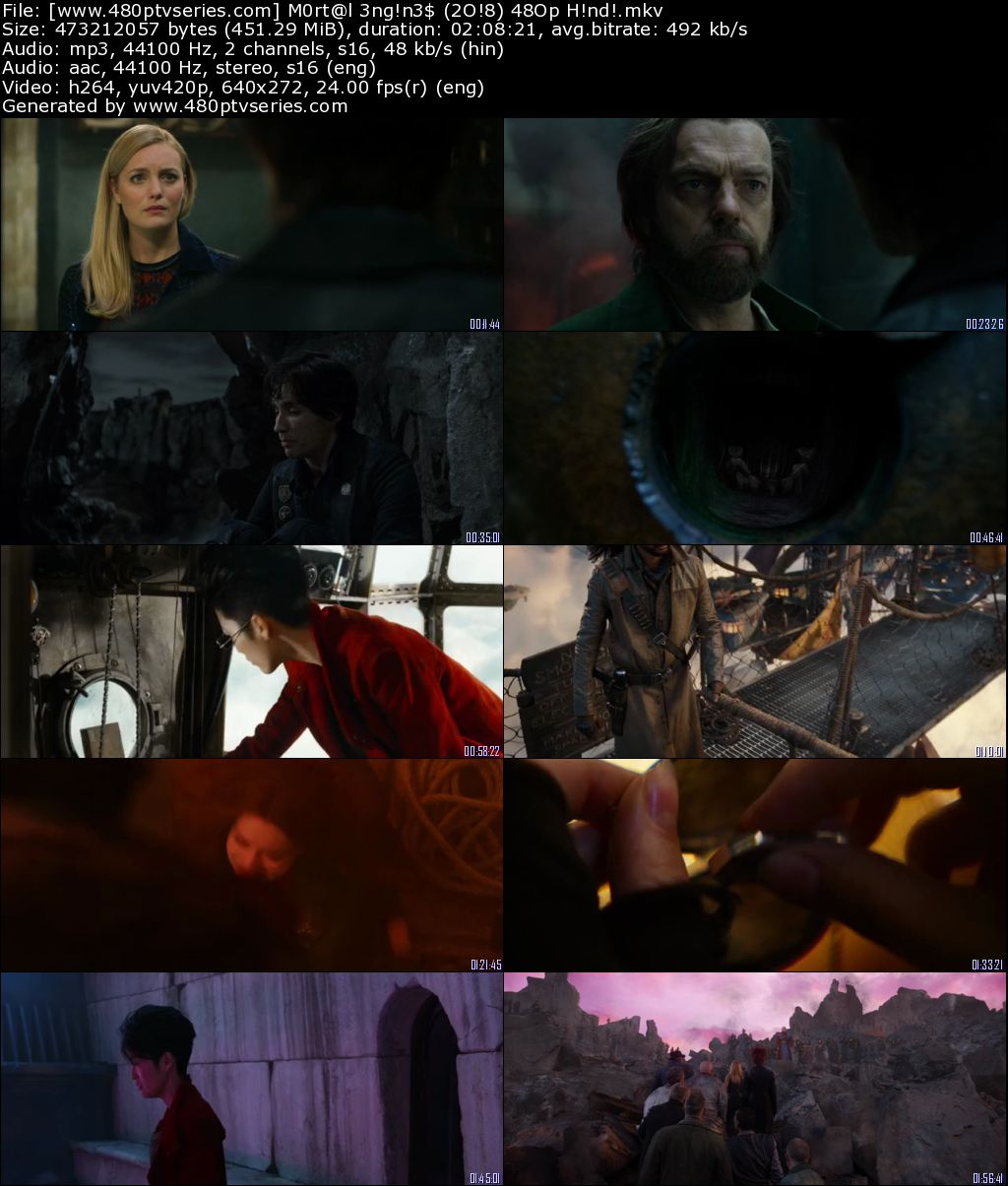 Mortal Engines (2018) 450MB Full Hindi Dual Audio Movie Download 480p Bluray Free Watch Online Full Movie Download Worldfree4u 9xmovies