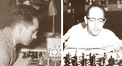 Los ajedrecistas Jaume Mora y Rafael Saborido