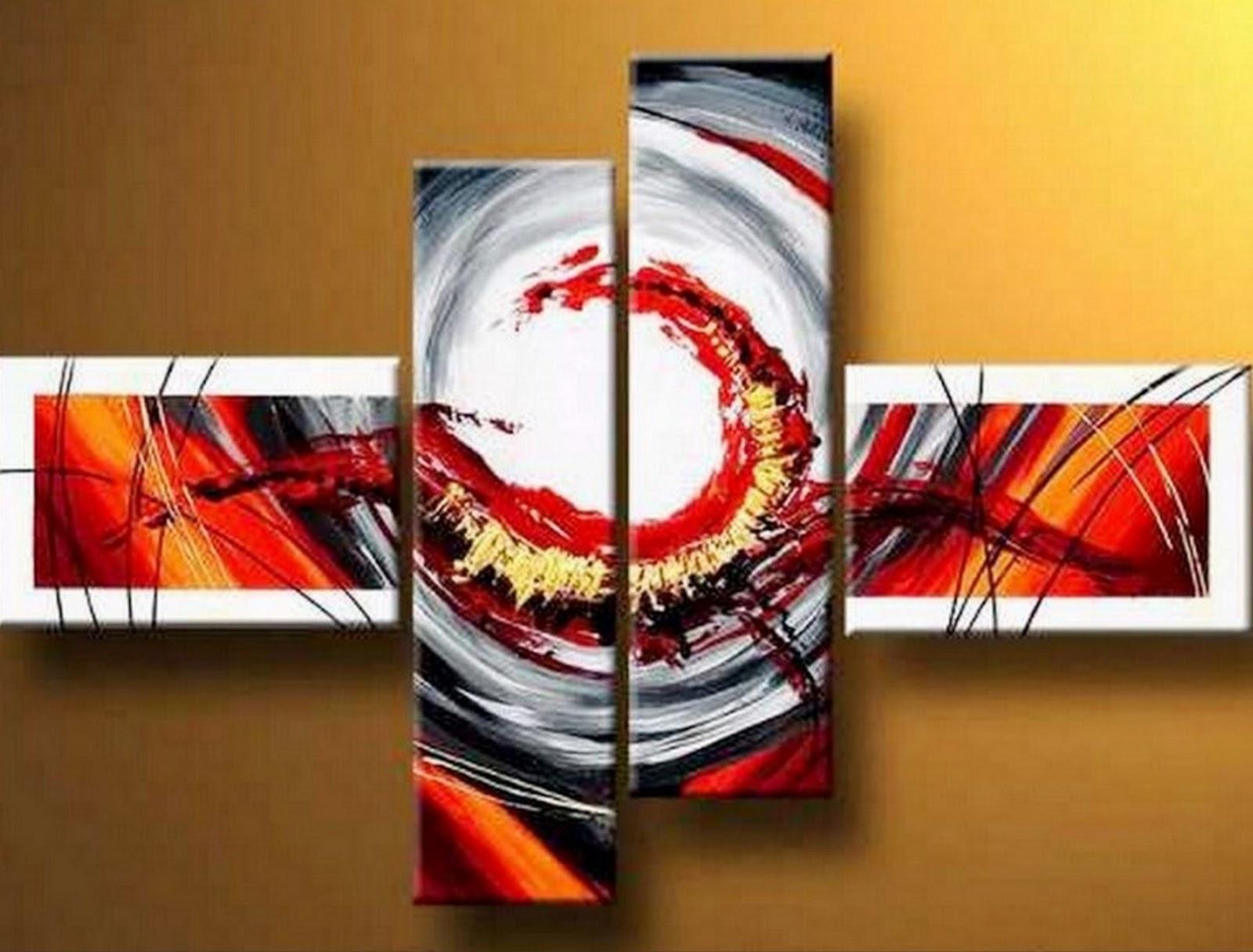 Decoraci n de casa u oficina cuadros abstractos modernos for Tendencia en cuadros decorativos 2016