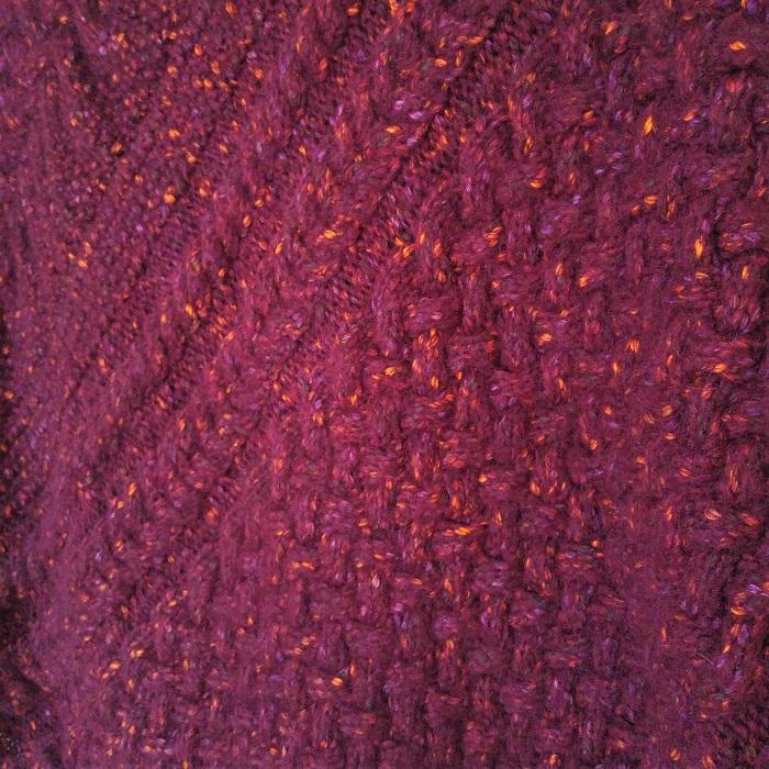 Poncho femme tricot torsades - Hello c'est Marine - Chat tricote par ici