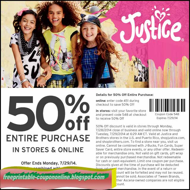 Justice canada coupons 2018