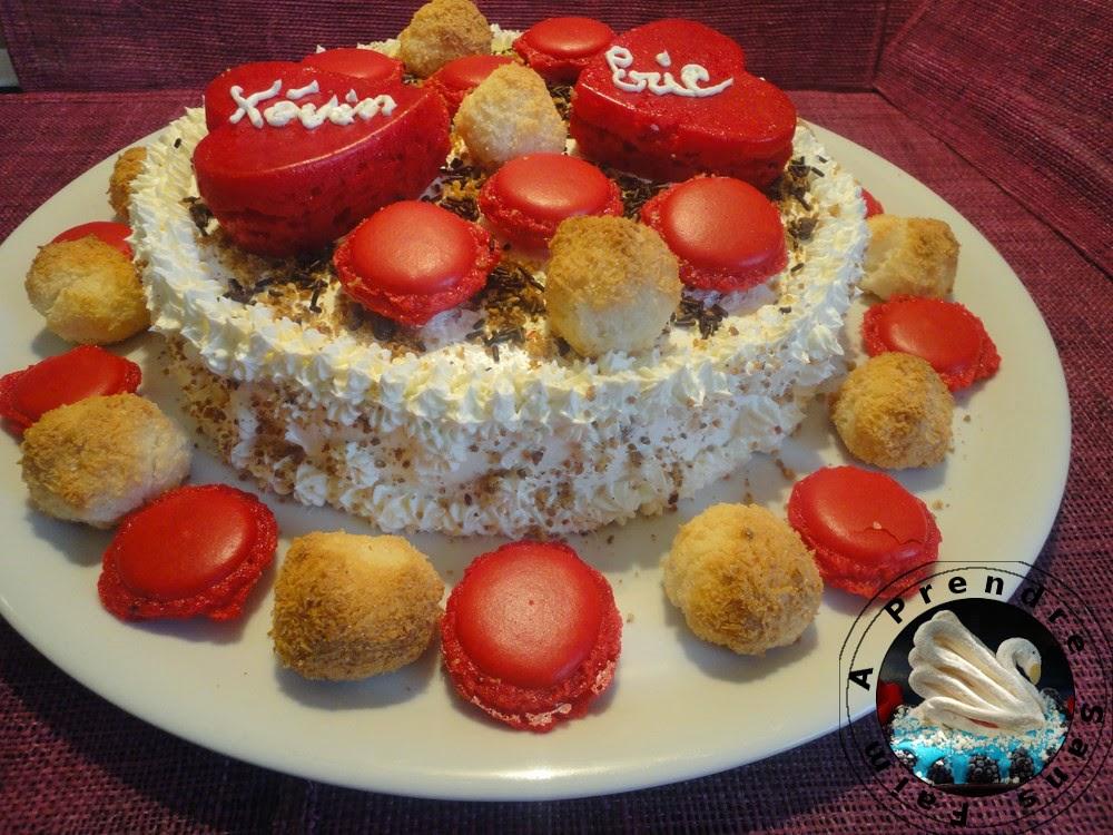 Gâteau chocolat gingembre orange à la crème de fleur d'oranger