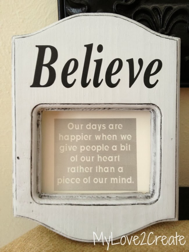 MyLove2Create, Changeable Quote Frame