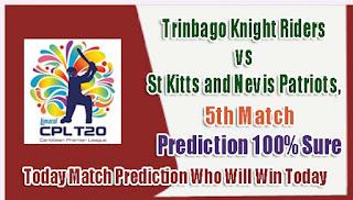 Today Mach Prediction TKR vs SKNP CPL 2018 Match