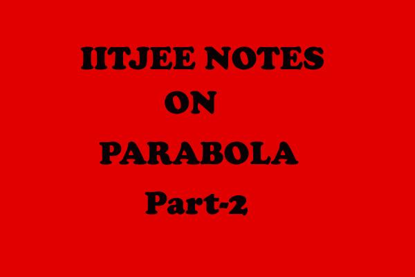 Parabola notes