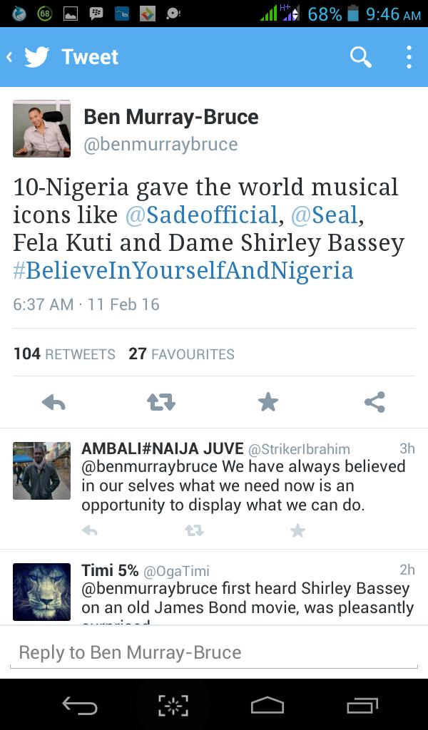 Stella Dimoko Korkus Com Senator Ben Bruce Twitter Sermon On Believeinyourselfandnigeria