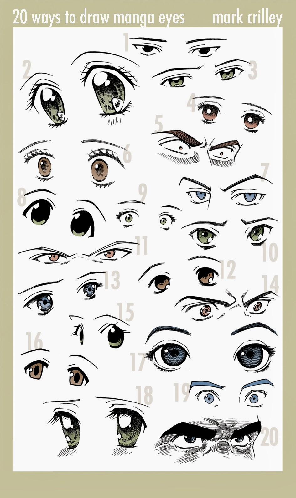 20 different ways to draw anime eyes draw anime