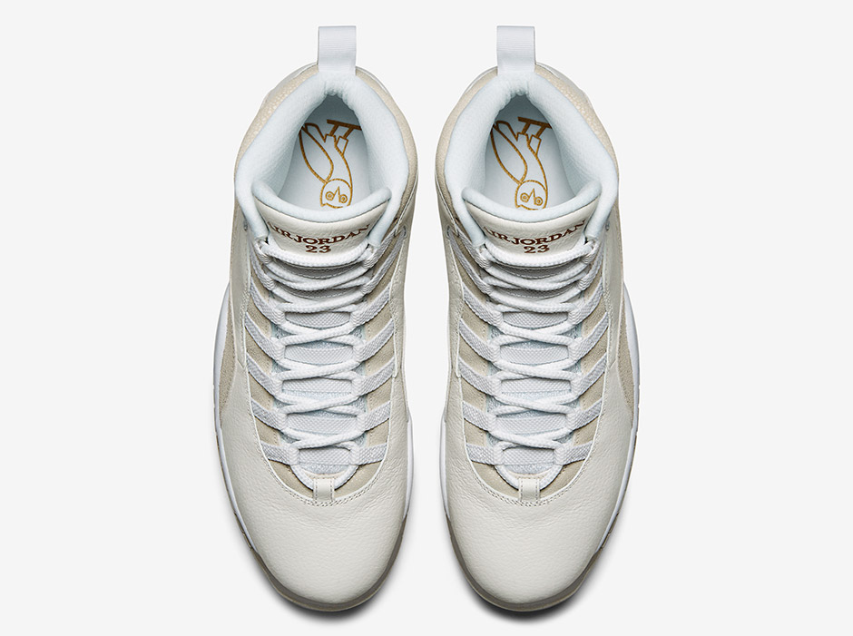wholesale dealer f528c 70fc6 The OVO owl stamped in Gold on the insole, and the OVO-cross logo on the  main sole gives these Jordan X s an exclusive look. The OVO x Air ...