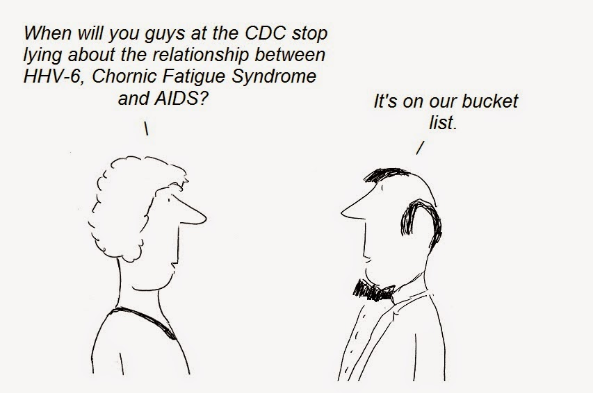 cartoon, cartoons, cdc, cover-up, hhv-6, cfs, chronic fatigue syndrome, aids, gallo, fauci, lipkin