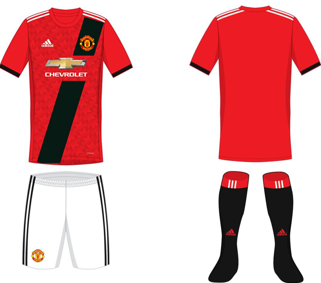 new arrival 0a164 39663 FTH: Manchester United 2017-18 Home, Away and Third Kit Leaked