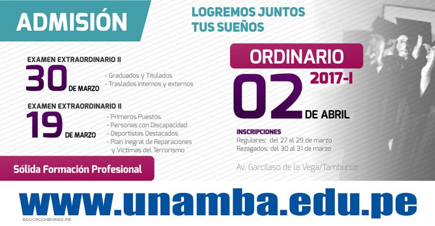 Resultados UNAMBA 2017-1 (2 Abril) Ingresantes Examen Admisión Ordinario Sede Abancay - Cotabambas - Vilcabamba - Tambobamba - Universidad Nacional Micaela Bastidas de Apurímac - www.unamba.edu.pe