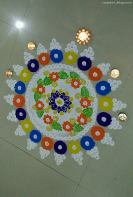 Multi Color Circle Rangolis