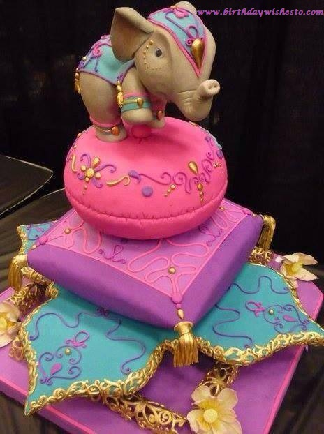 Elephant Decorative Birthday Cakes