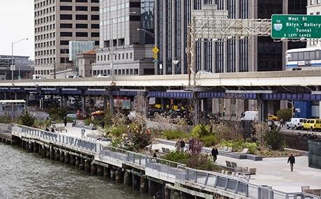 Passeio pelo East River Waterfront Esplanade em Nova York