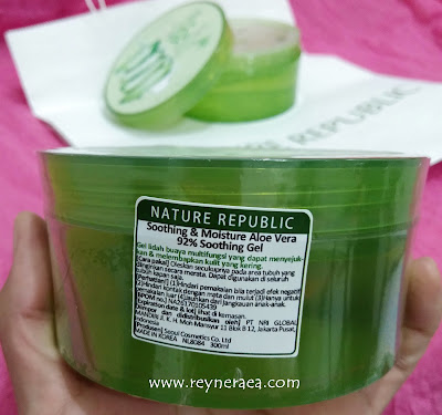 Review Nature Republic Aloe Vera 92% Soothing Gel Untuk Kulit kering