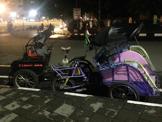 Becak Adventures in Jogja