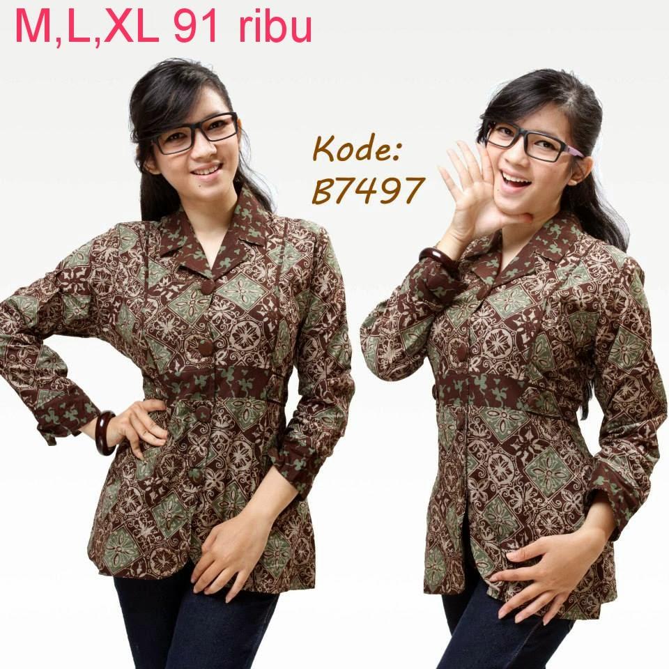 Pakaian Batik Untuk Interview Kerja: Model Baju Batik Untuk Kerja Kantor