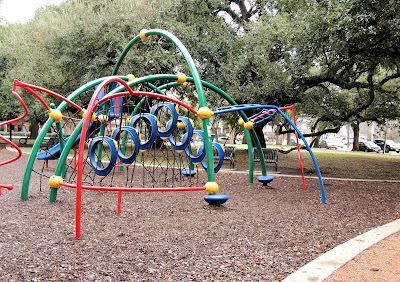 Children's playground at Baldwin Park in Midtown